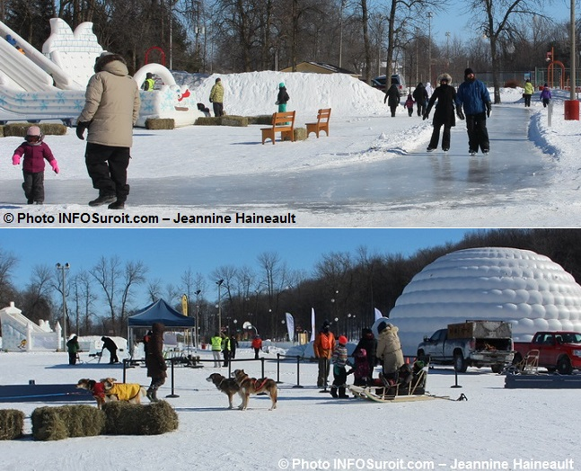 Festival Glisse et Reglisse a Rigaud patin jeux gonflables cjiens traineau igloo Photos INFOSuroit-Jeannine_Haineault