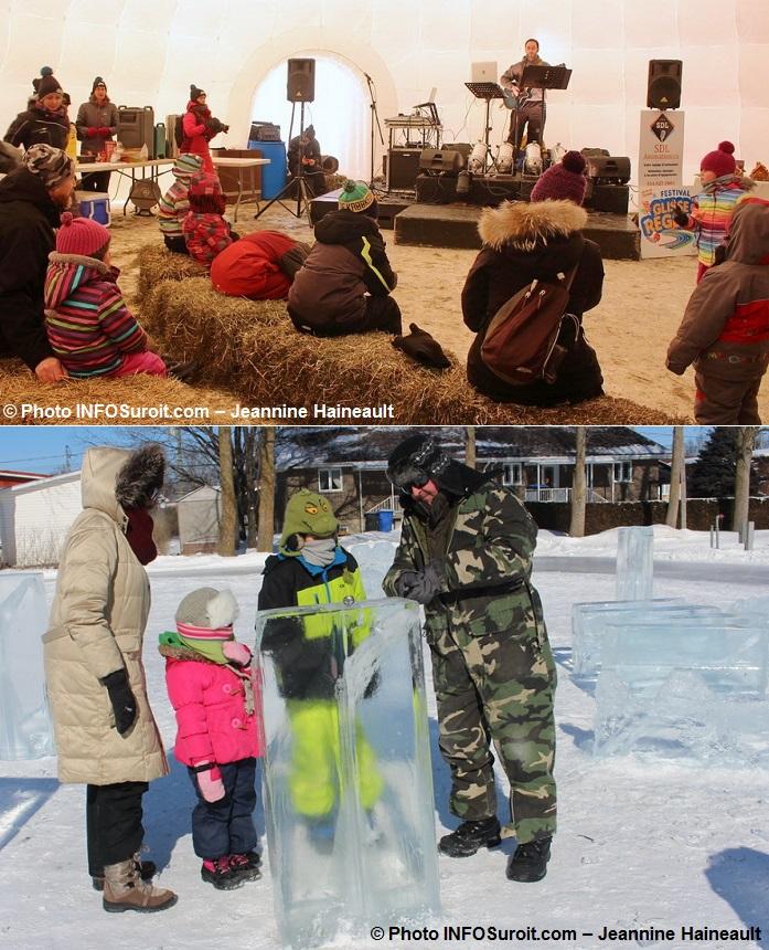 Festival hiver a Rigaud spectacle igloo et sculptures sur glace Photos INFOSuroit-Jeannine_Haineault