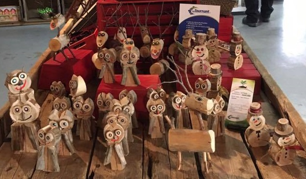 artisanat en bois a la FermeQuinn vente pour LeTournant Photo courtoisie