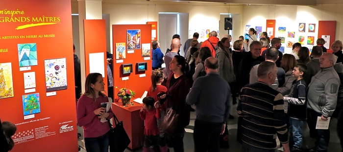 artistes_en_herbe exposition 2017 vernissage au Musee_regional Vaudreuil-Soulanges Photo courtoisie MRVS