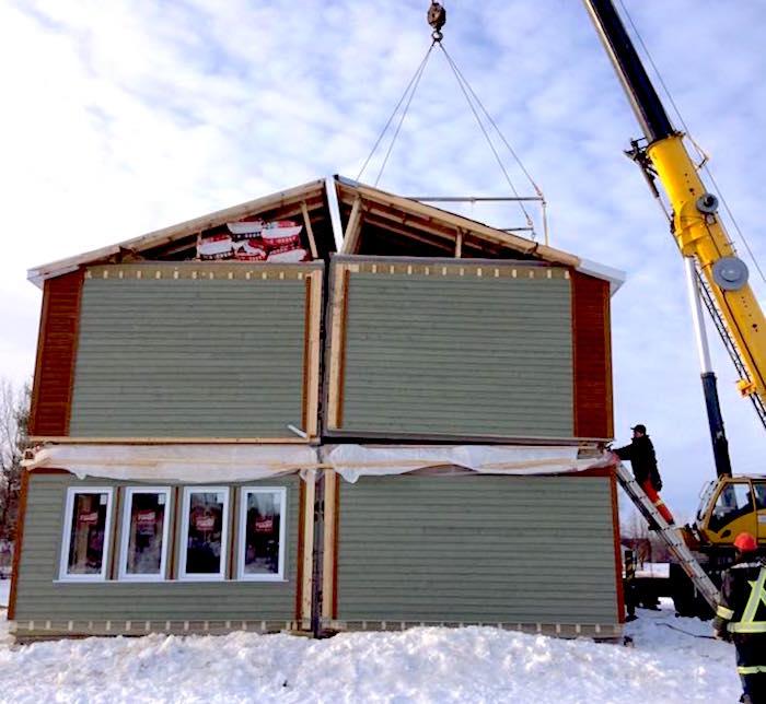 les modules de maison a Ormstown HabitatpourHumanite Photo via Facebook NFSB