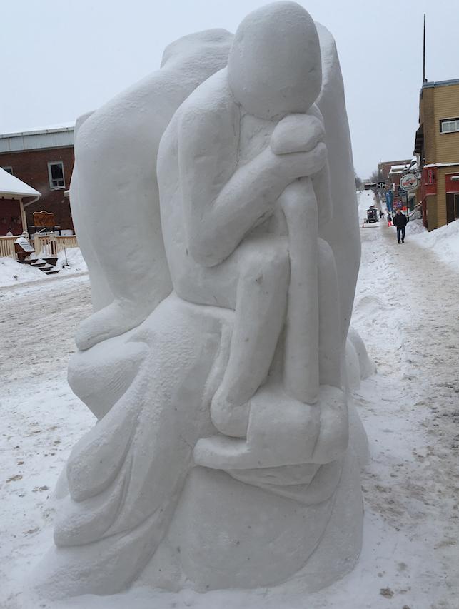 sculpture sur neige 2017 equipe 1 College Valleyfield Photo courtoisie