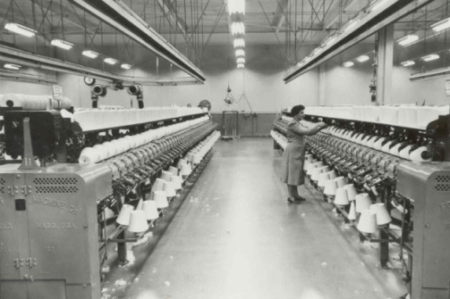 usine textile a Valleyfield Photo Collection DominionTextile via le MUSO