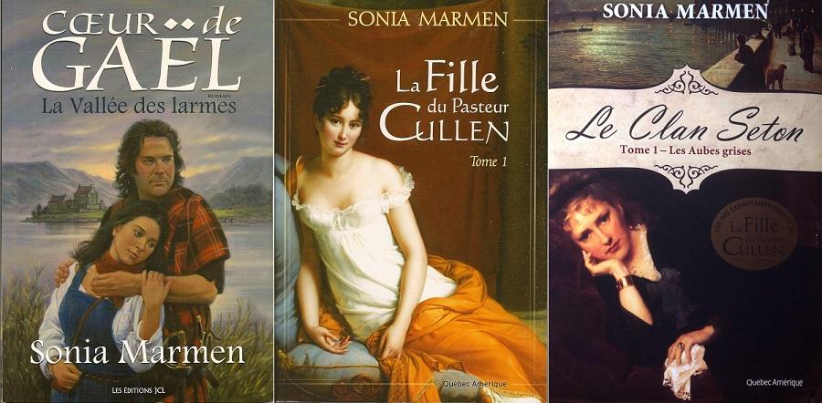 Livres SoniaMarmen CoeurdeGael LaFilledupasteurCullen et LeClanSeton Visuel courtoisie