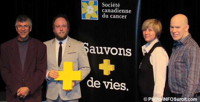 MCastonguay DRoy NSimon et SPoissant Relais pour la vie Chateauguay Photo INFOSuroit