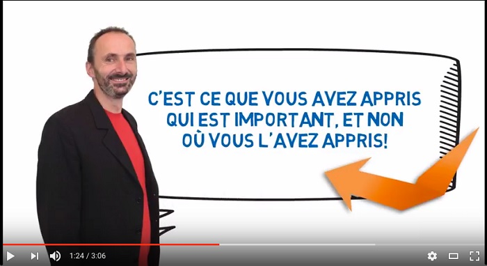 extrait video ceracfp_ca via YouTube reconnaissance acquis et competences