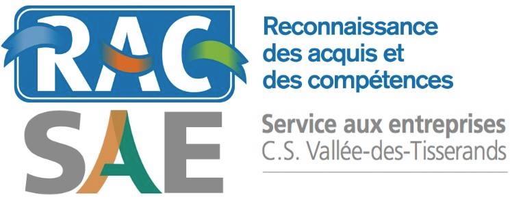 logo RAC reconnaissance acquis competences SAE services aux entreprises CSVT