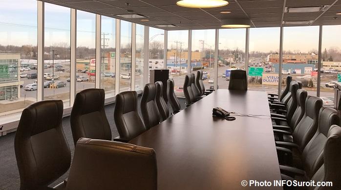 salle de conference pour le Conseil des maires de la MRC de Vaudreuil-Soulanges Photo INFOSuroit
