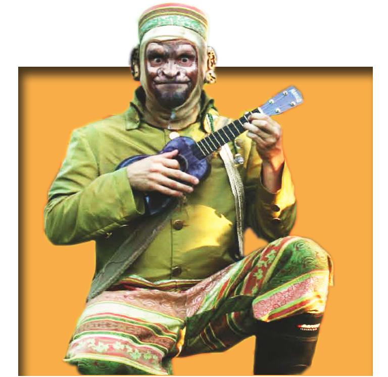 Booba singe musicien amuseur via lesanimationsclindoeil