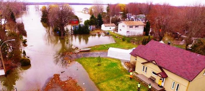 Inondation avril 2017 riviere Outaouais Photo courtoisie Ville de Rigaud