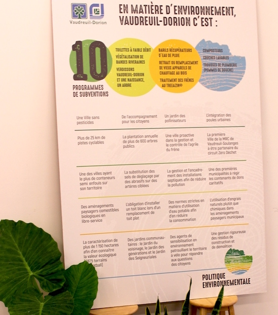 affiche politique environnement subventions Vaudreuil-Dorion Photo courtoisie
