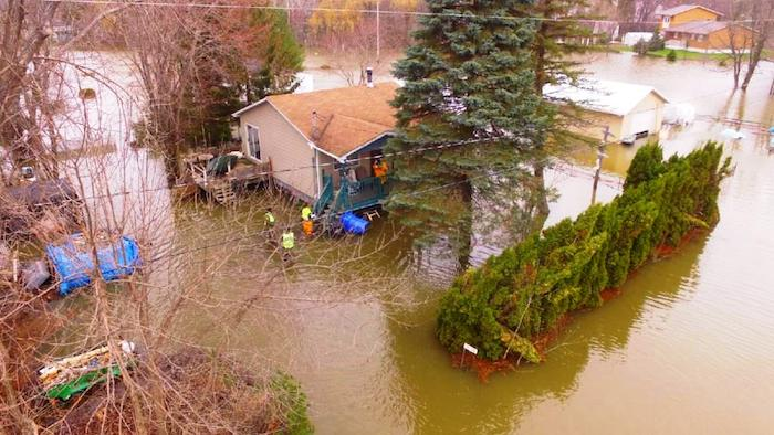 avril 2017 inondation riviere Outaouais Rigaud Photo courtoisie Ville Rigaud