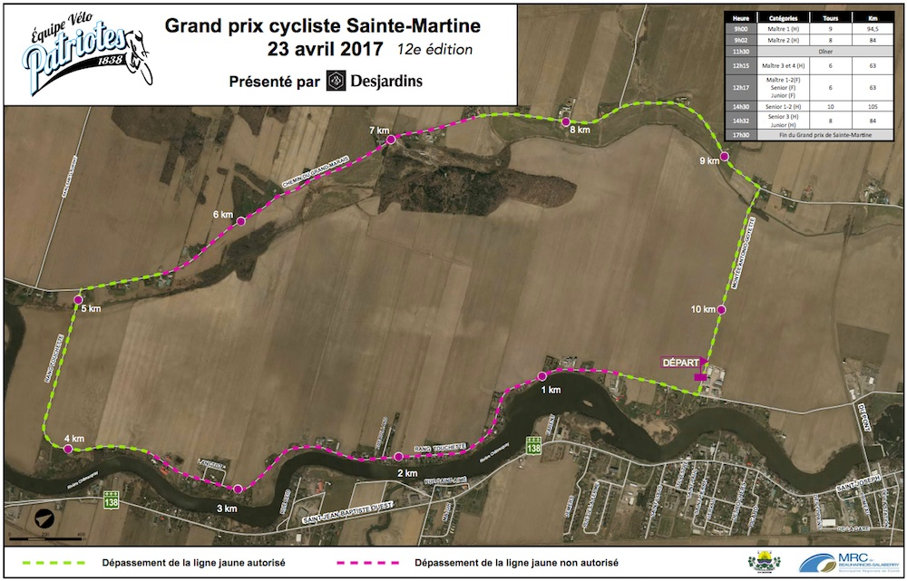 carte Grand-Prix Sainte-Martine Image courtoisie