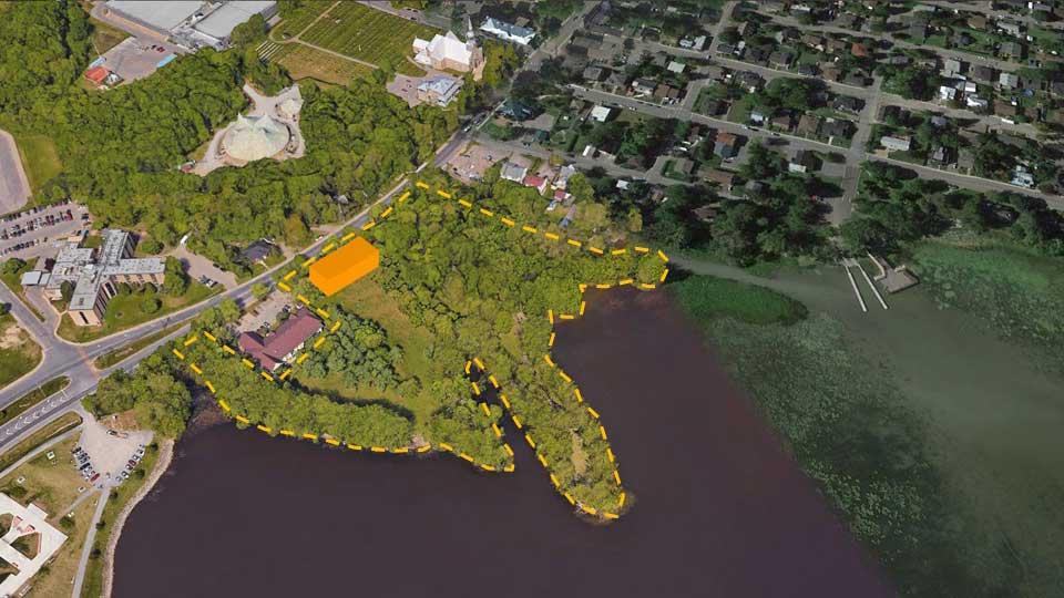 emplacement projete pour le futur hoteldeville vaudreuil-Dorion Image courtoisie VD