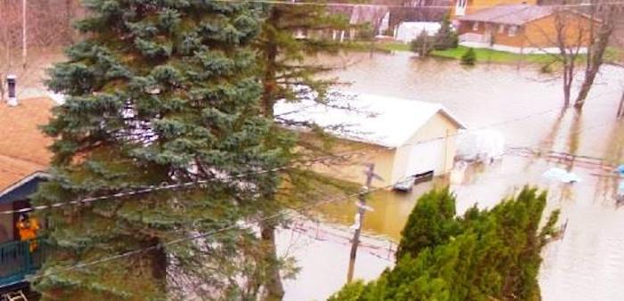 inondation 22 avril 2017 debordement riviere des outaouais Photo Ville Rigaud