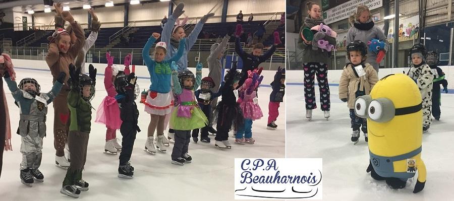 jeunes patineurs du CPA_Beauharnois en pyjama et mignon Photos courtoisie CPABeauharnois