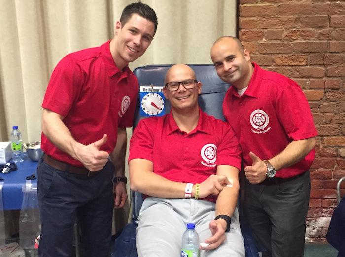 Collecte de sang 2017 trois Pompiers de Valleyfield