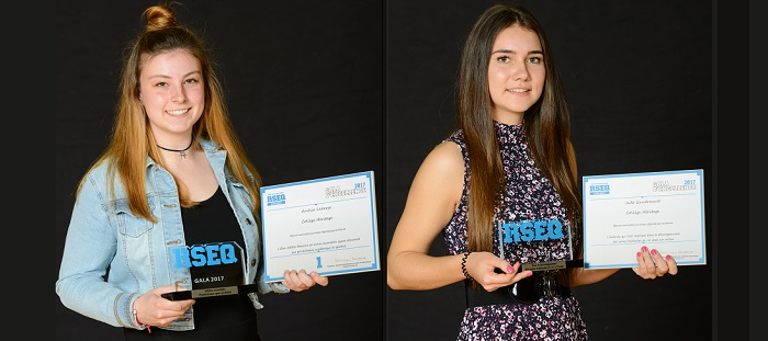 gala2017 RSEQ AmelieLaberge et JadeGaudreault du CollegeHeritage photos courtoisie RSEQ