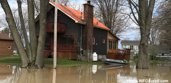 maison inondation Rigaud chaloupe sinistre mai2017 Photo INFOSuroit