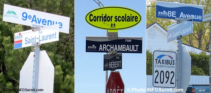 panneaux de rue corridor scolaire taxibus signalisation Valleyfield Photos INFOSuroit