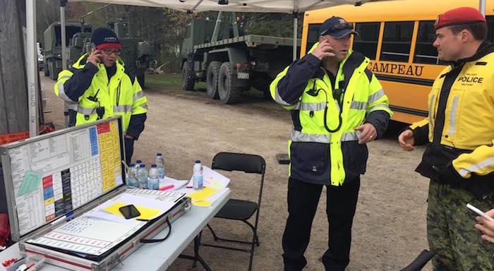 un des postes equipe urgence SQ et armee a Rigaud Photo courtoisie VR