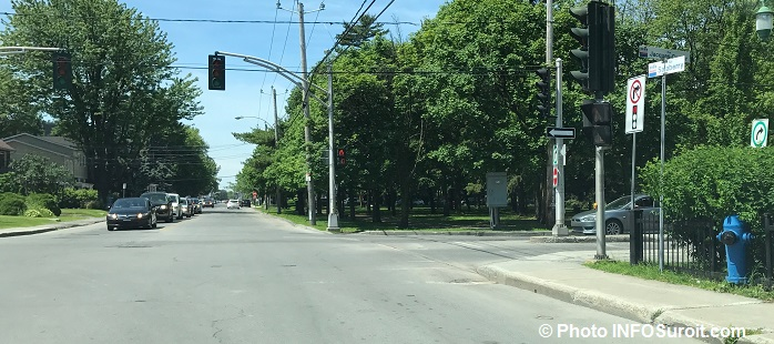 Intersection Jacques-Cartier et rue Salaberry a Valleyfield Photo INFOSuroit