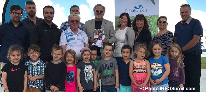 Lancement politique des loisirs sports et plein air Beauharnois avec enfants CPE Bobino Photo INFOSuroit