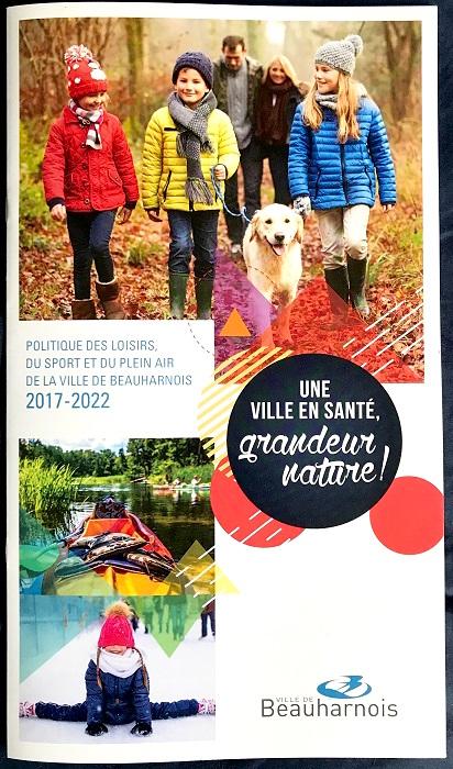 Politique Loisirs Sports Plein air Beauharnois 2017-2022 brochure