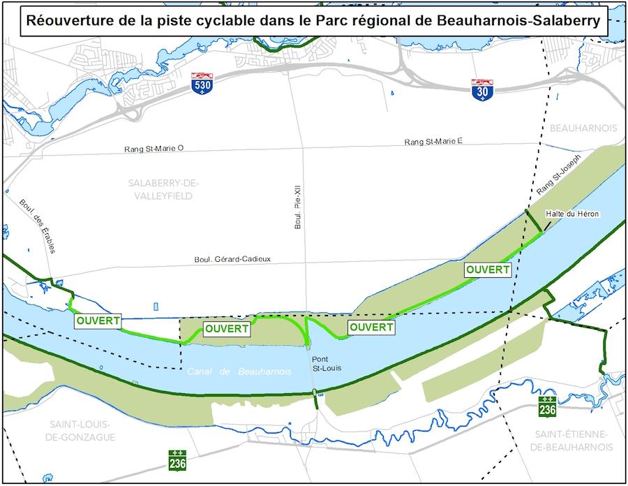 Reouverture piste_cyclable rive_nord Parc_regional MRC
