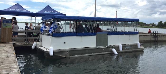 bateau ponton navette croisiere LesCedres St-Timothee juin2017 Photo courtoisie CLD
