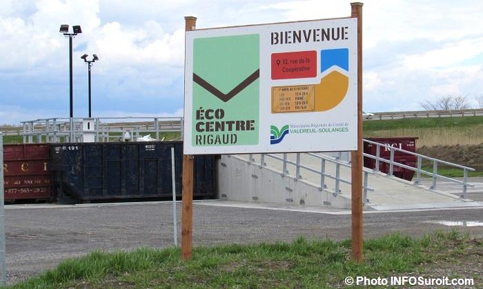 ecocentre de Rigaud mai 2017 entree Photo INFOSuroit