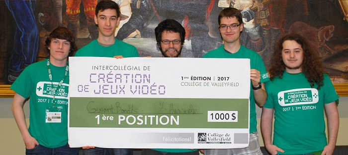 intercollegial jeux video 2017 a Valleyfield gagnants equipe cepeg St-Hyacinthe Photo ColVal
