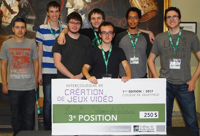 intercollegial jeux video 2017 bronze equipe de Valleyfield Photo College Valleyfield