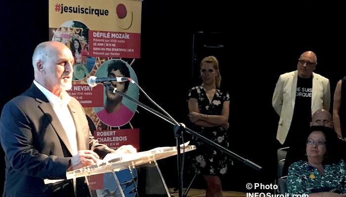 maire VaudreuilDorion GuyPilon FestivaldeCirque annonce 13juin2017 Photo INFOSuroit
