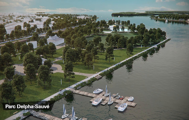 projet amenagement des berges parc delpha-Sauve Valleyfield extrait video YouTube