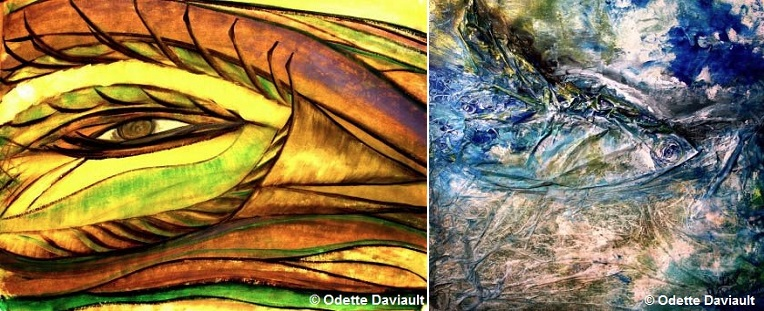 tableaux Odette_Daviault exposition galerie art MRC Beauharnois Photos courtoisie