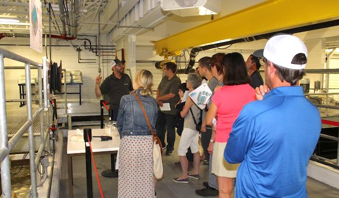 usine filtration eaux Vaudreuil-Dorion visiteurs 11juin2017 Photo courtoisie