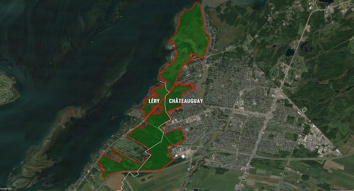 Corridor vert Chateauguay-Lery limites proposees par HSB et SOS Foret Fernand-Seguin Visuel copyright DominicGendron
