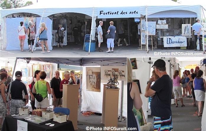 Festival des arts 2015 kiosques artistes et visiteurs Photos INFOSuroit