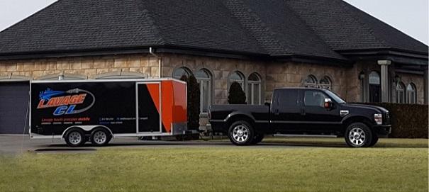 LavageCL nettoyage sous-pression remorque camion maisoin Photo courtoisie