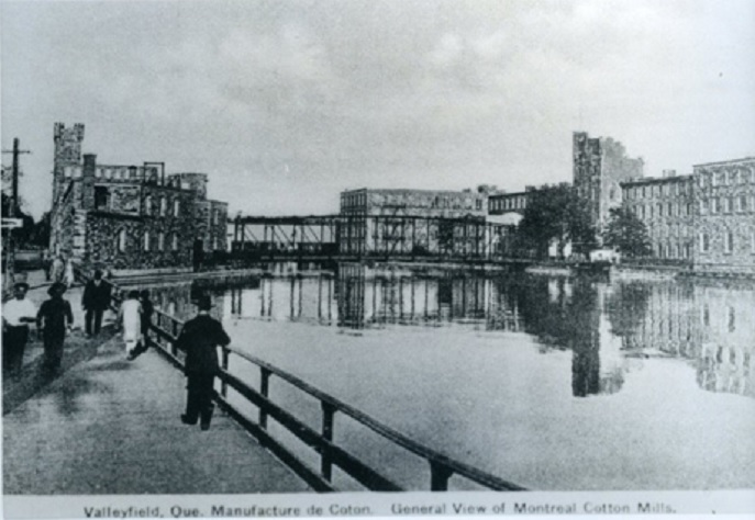 Valleyfield Montreal Cotton Mills Photo collection du Musee de societe des deux-Rives MUSO