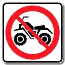 Vtt motocross interdiction panneau Image courtoisie SdV