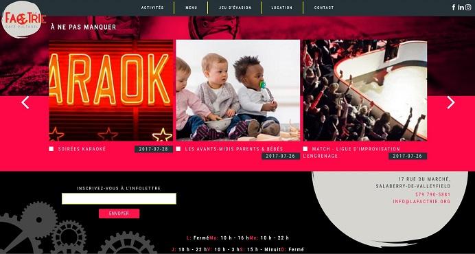 capture ecran site Web LaFactrie a ne pas manquer