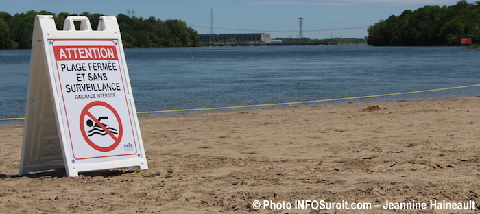 fermeture plage interdiction parc des iles St-Timothee juin 2017 Photo INFOSuroit-Jeannine_Haineault