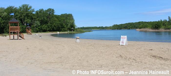 fermeture plage interdite parc regional des iles St-Timothee Photo INFOSuroit-Jeannine_Haineault