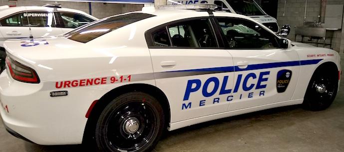police autopatrouille ville de Mercier Photo courtoisie VM
