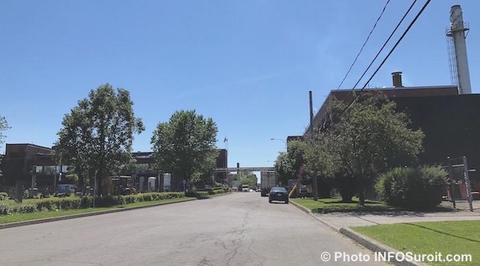 vue globale usine Diageo rue Salaberry Valleyfield juillet 2017 Photo INFOSuroit