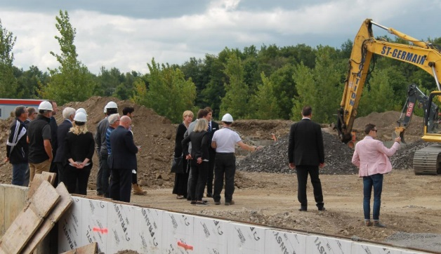 Sportplex a Chateauguay visite de chantier 31aout2017 Photo courtoisie