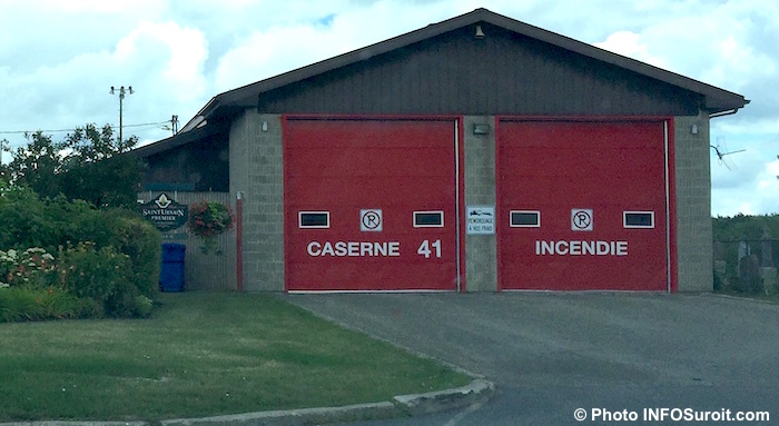 caserne de pompiers securite incendie St-Urbain-Premier 2016 Photo INFOSuroit