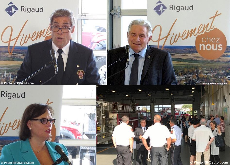 BJette HGruenwald LCharlebois et plus inauguration caserne pompiers Rigaud Photos INFOSuroit
